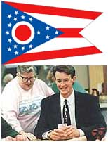 Ohio State Flag and State Rep. Chris Redfern